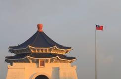 Chiang Kai Shek Memorial korridorTaipei demokrati Memorial Park Taiwan fotografering för bildbyråer