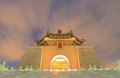 Chiang Kai Shek Memorial korridorTaipei demokrati Memorial Park Taiwan royaltyfri bild