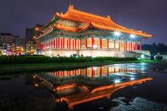 Chiang kai-shek minnes- korridor i Taipei, Taiwan Arkivfoton