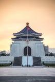Chiang kai-shek minnes- korridor i Taipei, Taiwan Royaltyfri Fotografi