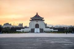 Chiang kai-shek minnes- korridor i Taipei, Taiwan Arkivbilder