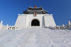 Chiang Kai-shek minnes- korridor i taiwan arkivbild