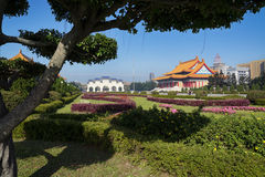 Chiang Kai-shek minnesmärketrädgård i Taipei - Taiwan Royaltyfri Foto