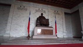 Chiang Kai Shek Statue in Chiang Kai Shek Memorial Hall in Taipeh, Taiwan stock footage