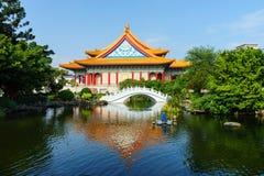 Chiang Kaishek Memorial Hall i taipei, taiwan Royaltyfri Bild