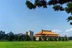 Chiang Kaishek Memorial Hall i tapeien taiwan Royaltyfria Foton