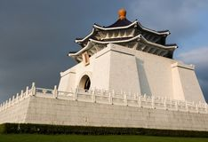 Chiang Kaishek Memorial Hall, Taipei. Chiang Kaishek (Jiang jieshi) Memorial Hall, Taipei, Taiwan at sunset Stock Photo