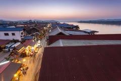 Chiang Khan, Loei, Thaïlande Images libres de droits