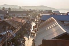 Chiang Khan Loei, Thailand Arkivbild