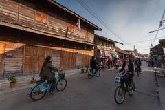 Chiang Khan Loei, Thailand Fotografering för Bildbyråer