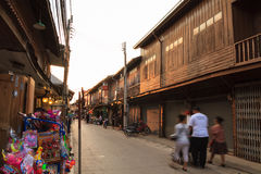 Chiang Khan's walking street Stock Images