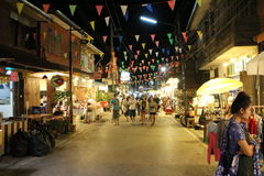 Chiang khan street market Loei - THAILAND , DEC 29 - 2015 Stock Photo
