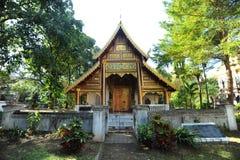 Chiang Mai人泰国wat 图库摄影