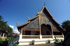 Chiang Mai人泰国wat 免版税库存照片