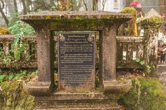 Chiang Mai - 29 Δεκεμβρίου: Η πέτρα σημαδιών του βασιλιά Inthanon εγώ Στοκ Εικόνα