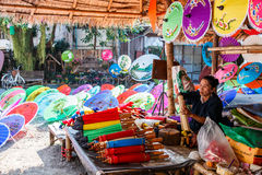 CHIANG MAI, ΤΑΪΛΆΝΔΗ 19 ΙΑΝΟΥΑΡΊΟΥ: 31η ομπρέλα Bosang επετείου Στοκ Εικόνα