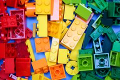 chiang mai, ΤΑΪΛΆΝΔΗ - 27 Μαΐου 2018: Το Lego είναι μια γραμμή του πλαστικού γ Στοκ εικόνα με δικαίωμα ελεύθερης χρήσης