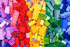 chiang mai, ΤΑΪΛΆΝΔΗ - 27 Μαΐου 2018: Το Lego είναι μια γραμμή του πλαστικού γ Στοκ Φωτογραφίες