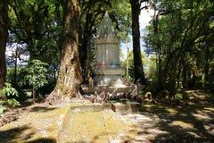 Chiang Mai, Ταϊλάνδη - 25 Μαρτίου 2017: Αρχαίο stupa σε Doi Inthanon στο όμορφο πράσινο κλίμα φύσης στην Ταϊλάνδη Στοκ Εικόνα