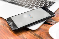 CHIANG MAI, ΤΑΪΛΆΝΔΗ - 14 Νοεμβρίου 2016: Iphone7 συν με πηγαίνετε Στοκ εικόνες με δικαίωμα ελεύθερης χρήσης