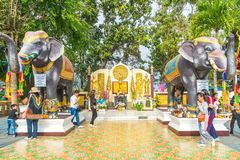 Chiang Mai, Ταϊλάνδη, την 1η Ιανουαρίου 2018: Τουρίστας που ταξιδεύει σε Wat Phr Στοκ εικόνες με δικαίωμα ελεύθερης χρήσης