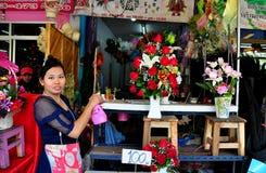 Chiang Mai, Таиланд: Рынок цветка Warowot Стоковые Изображения