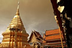 Chiang Mai 1. Temple Mountain in Chiang Mai, North Thailand Royalty Free Stock Photography