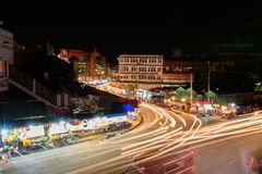 Chiang mai Aug 19 , High angle view of Warorot market. Royalty Free Stock Images