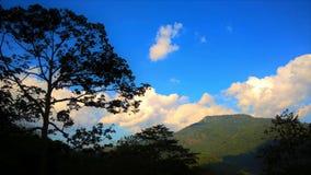 Chiang Mai-Berg und schöne Skyline Stockbilder