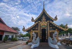 Chiang Mai, borda dos reis Monumento Quadrado do templo antigo três de Tailândia Imagem de Stock