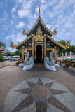 Chiang Mai, borda dos reis Monumento Quadrado do templo antigo três de Tailândia Fotos de Stock Royalty Free