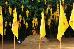 Chiang Mai buddisttempel - Wat Phan Tao, detaljer Arkivbild