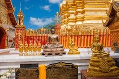 Chiang Mai, côté de stupa de la Thaïlande Suthep Doi Suthep Buddhist Images libres de droits