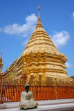 Chiang Mai, côté de stupa de la Thaïlande Suthep Doi Suthep Buddhist Photo stock