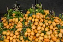 Chiang Mai, città antica della Tailandia --- piccolo mercato di frutta del mango Fotografie Stock Libere da Diritti