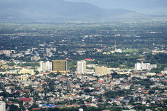 Chiang Mai city. Chiang Mai city : high angle view planning Thailand Royalty Free Stock Images