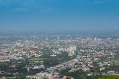Chiang Mai city from Doi Suthep Stock Images