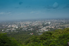 Chiang Mai city from Doi Suthep Royalty Free Stock Photography