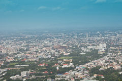 Chiang Mai city from Doi Suthep Royalty Free Stock Photo