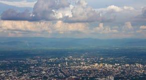 Chiang Mai city. High-angle photos of Chiang Mai Stock Image