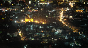 Chiang Mai city at nigh, Thailand Stock Images