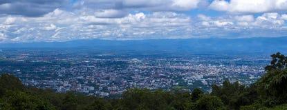 Chiang Mai City, Tailandia dall'alta vista immagine stock