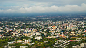 Chiang mai city, Thailand. With tilt-shift effect royalty free stock photo