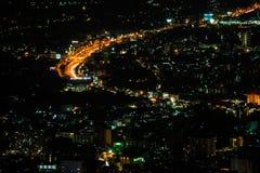 Chiang Mai city view at nigh Royalty Free Stock Photos