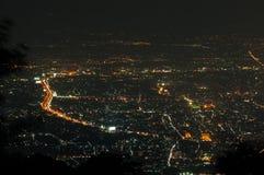 Chiang Mai city view at night Stock Image