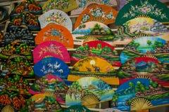 Chiang Mai, fan fatto a mano della Tailandia Fotografia Stock