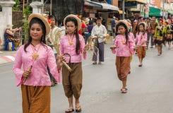 Chiang Mai Flower Festival Arkivfoto