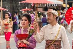 Chiang Mai Flower Festival Fotografering för Bildbyråer