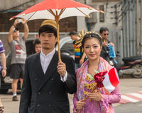 Chiang Mai Flower Festival Arkivbilder