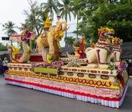 Chiang Mai Flower Festival no parque do chapéu de Suan Buak imagens de stock
